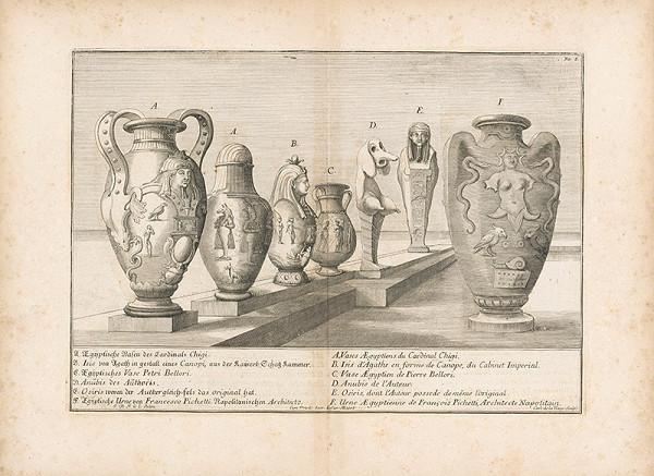 Johann Bernhard Fischer von Erlach – Pohľad na rôzne typy egyptských váz