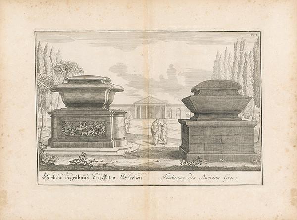 Johann Bernhard Fischer von Erlach - Zobrazenie náhrobkov starých grékov