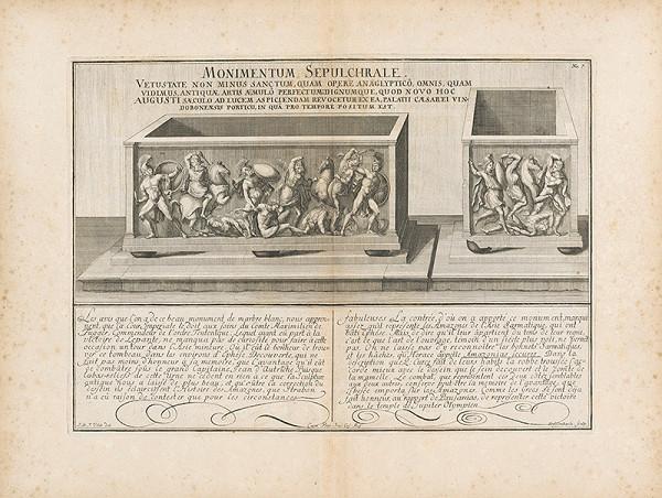 Johann Bernhard Fischer von Erlach - Zobrazenie antických náhrobkov