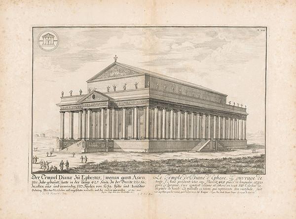 Johann Bernhard Fischer von Erlach, Johann Ulrich Krauss - Dianin chrám v Efeze