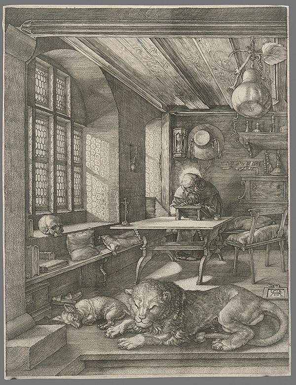 Albrecht Dürer - Sv. Hieronym vo svojej pracovni