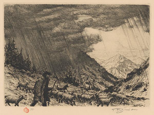 František Tavík Šimon – Búrka na horách