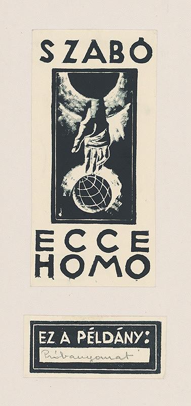 Július Szabó – Titulný list k albumu Ecce Homo I.