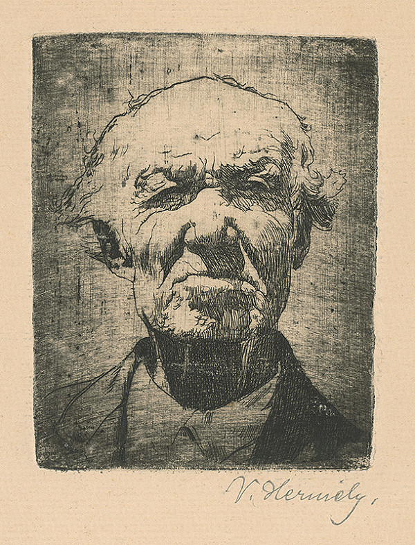 Viktor Hermély – Portrét starca