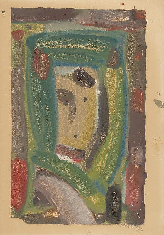 Jozef Ilečko – Hlava ženy v zelenom