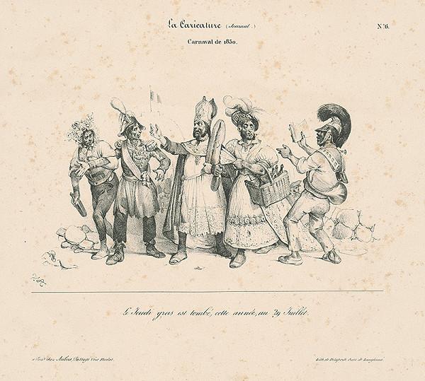 Victor Vincent Adam, Francúzsky karikaturista V.A. z 30. rokov 19. storočia – Karneval 1830