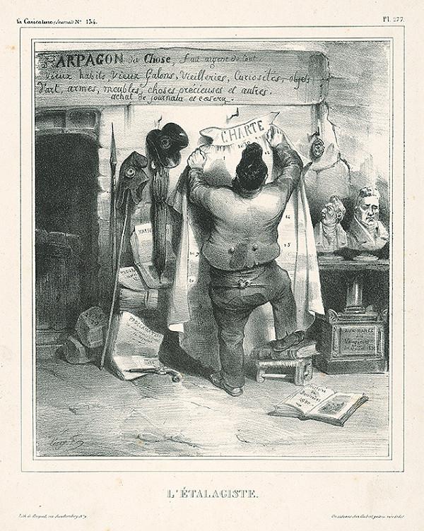 Eugène-Hippolyte Forest, Francúzsky karikaturista Guy F. z 30. rokov 19. storočia – Aranžér