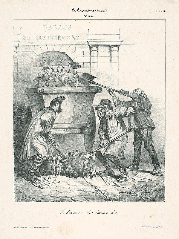 Jean Ignace Isidore Grandville, Francúzsky karikaturista G.T. z 30. rokov 19. storočia – Odvoz smetí