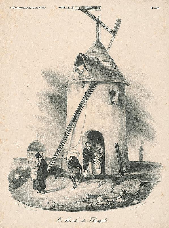 Honoré Daumier, Francúzsky autor z 30. rokov 19. storočia - Telegrafný mlyn