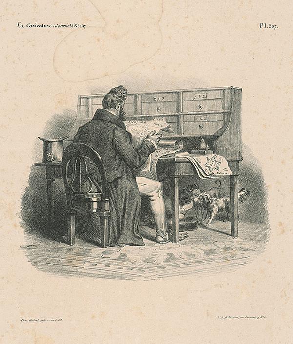 Francúzsky autor z 30. rokov 19. storočia – Plán Paríža