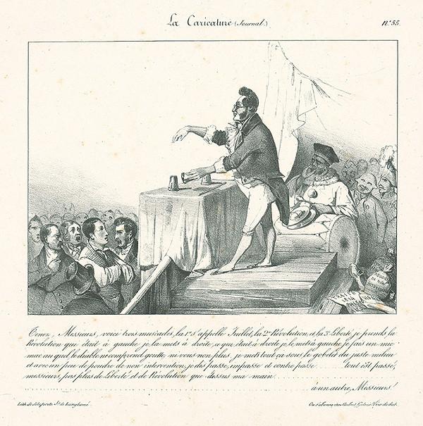 Jules David, Francúzsky karikaturista z 30. rokov 19. storočia – Pozrite,páni,tu mám tri oriešky