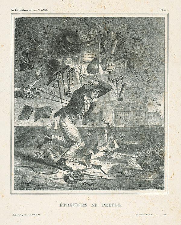 Jean Ignace Isidore Grandville, Francúzsky karikaturista z 30. rokov 19. storočia – Vianočná nádielka pre pospolitý ľud