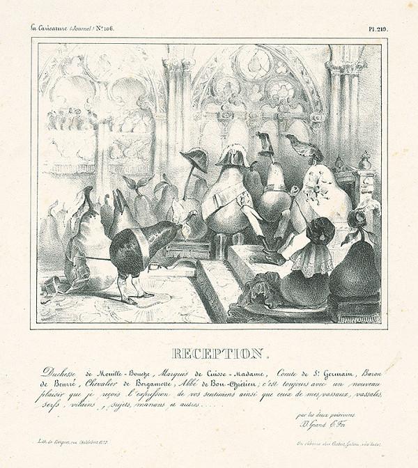 Jean Ignace Isidore Grandville, Francúzsky karikaturista z 30. rokov 19. storočia – Recepcia
