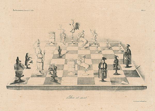 Francúzsky karikaturista z 30. rokov 19. storočia – Šach-mat