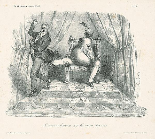 Francúzsky karikaturista z 30. rokov 19. storočia – Vďačnosť je kráľovská cnosť