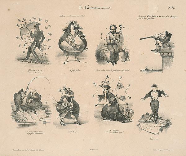 Édouard Wattier, Francúzsky grafik z 30. rokov 19. storočia-Vattier – Osem dobových karikatúr - Karikatúra bude odteraz pravdou