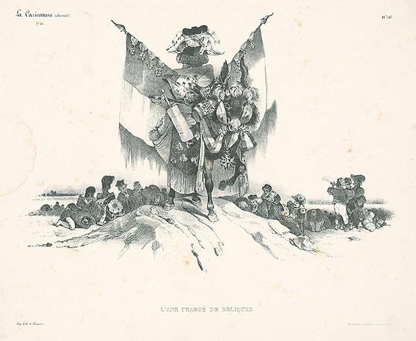 Édouard Wattier, Francúzsky karikaturista z 30. rokov 19. storočia – Somár naložený relikviami