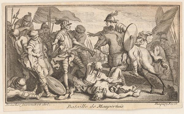 Maurice Baquoy, François Boucher – Bojová scéna