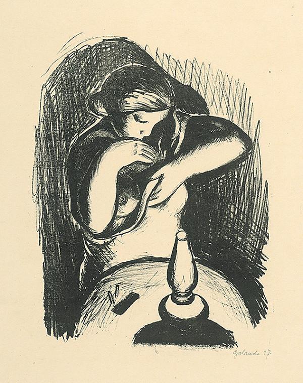 Mikuláš Galanda – Toaleta pri lampe