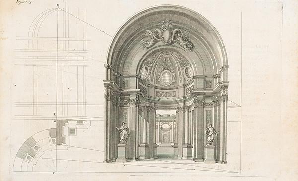Andrea Pozzo, Giacomo Böemo Komarek - Fig.15. - Tribúna dvojakej architektúry