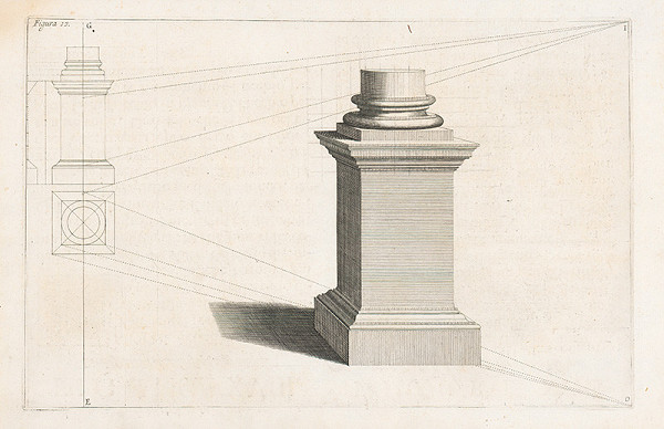Andrea Pozzo, Giacomo Böemo Komarek - Fig.17. - Štvorcový piedestál s iným dokumentom
