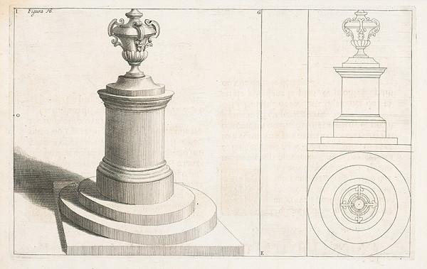 Andrea Pozzo, Giacomo Böemo Komarek - Fig.18. - Okrúhly piedestál umiestnený na schodíkoch