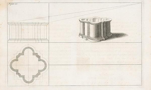 Andrea Pozzo, Giacomo Böemo Komarek - Fig.20. - Nádrž fontány.Tu sa predpokladá pochybnosť