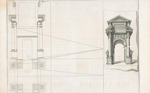 Andrea Pozzo, Giacomo Böemo Komarek – Fig.21. - Víťazný oblúk,kde sa vyrieši pochybnosť