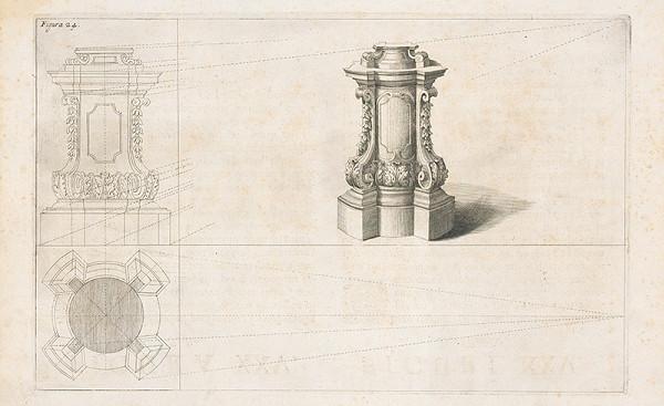 Andrea Pozzo, Giacomo Böemo Komarek - Fig.24. - Piedestál s ornamentami