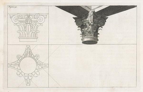 Andrea Pozzo, Giacomo Böemo Komarek - Fig.30. - Zložená hlavica stĺpu zboku