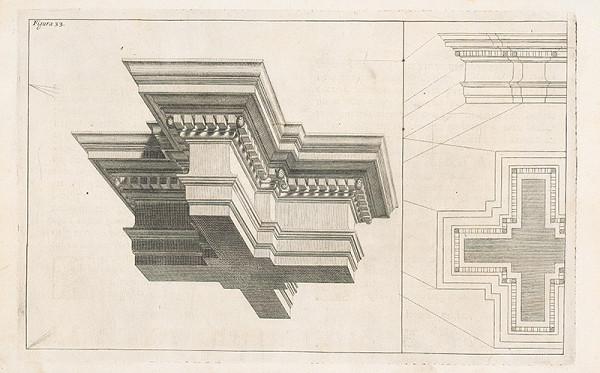 Andrea Pozzo, Giacomo Böemo Komarek – Fig.33. - Zložená rímsa