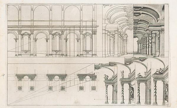 Andrea Pozzo, Giacomo Böemo Komarek - Fig.41. - Divadlo,znázorňujúce galériu