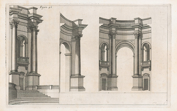 Andrea Pozzo, Giacomo Böemo Komarek – Fig.46. - Ako sa robia jednotlivé časti a ich rozmery