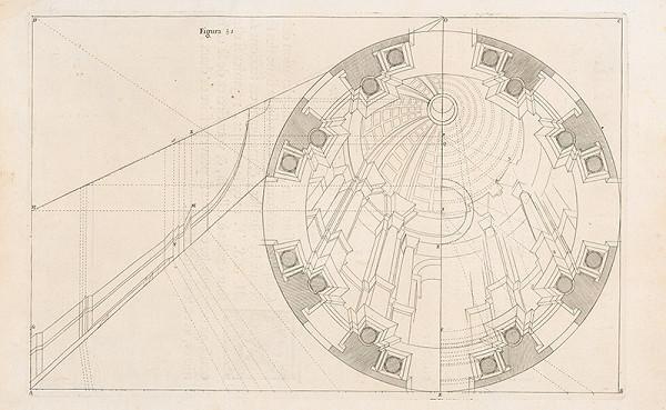 Andrea Pozzo, Giacomo Böemo Komarek – Fig.51. - Kupola budovy Collége Romain s predpismi prvého zväzku