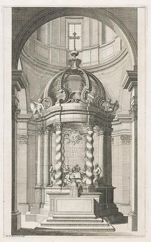Andrea Pozzo, Giacomo Böemo Komarek - Fig.69. - Maľovaný oltár vo Frascati