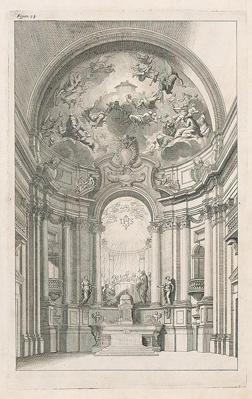 Andrea Pozzo, Giacomo Böemo Komarek – Fig.73. - Iný hlavný oltár v kostole Chiesa die Gesu v Ríme