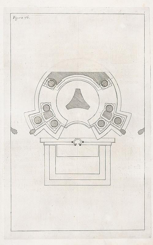 Andrea Pozzo, Giacomo Böemo Komarek - Fig.78. - Projekt a výška predošlého vyobrazenia