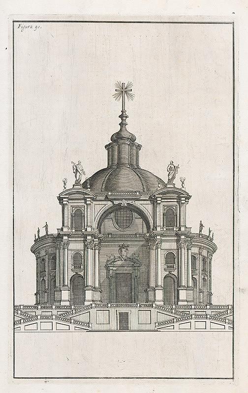 Andrea Pozzo, Giacomo Böemo Komarek - Fig.91. - Fasáda v perspektíve toho istého kostola