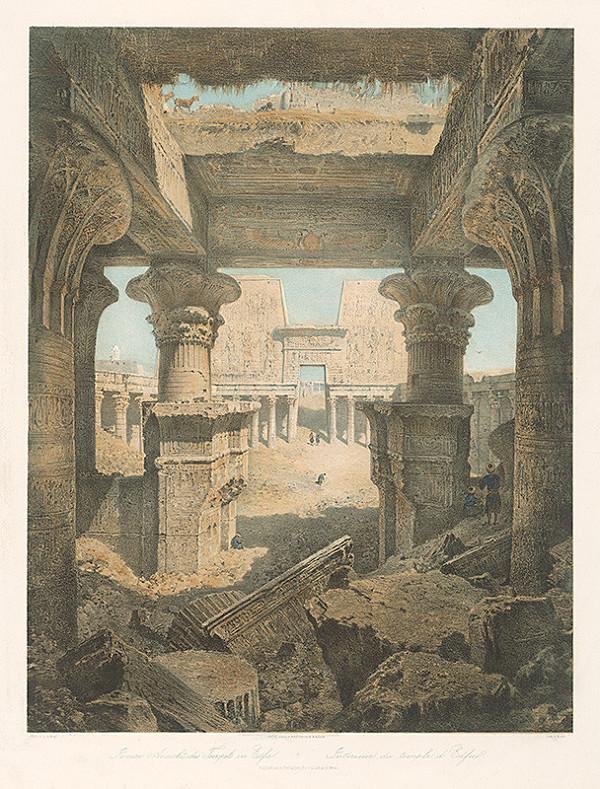 Karol Ľudovít Libay, Rudolf Alt – Interiér chrámu v Edfu