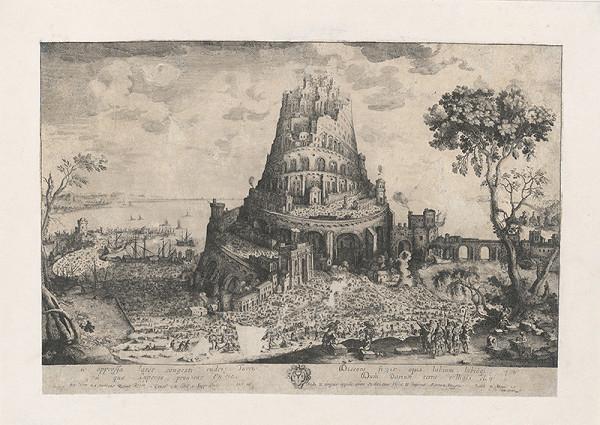 Nizozemský grafik zo 17. storočia, Nicolas Cochin, Balthasar Moncornet - Stavba babylonskej veže
