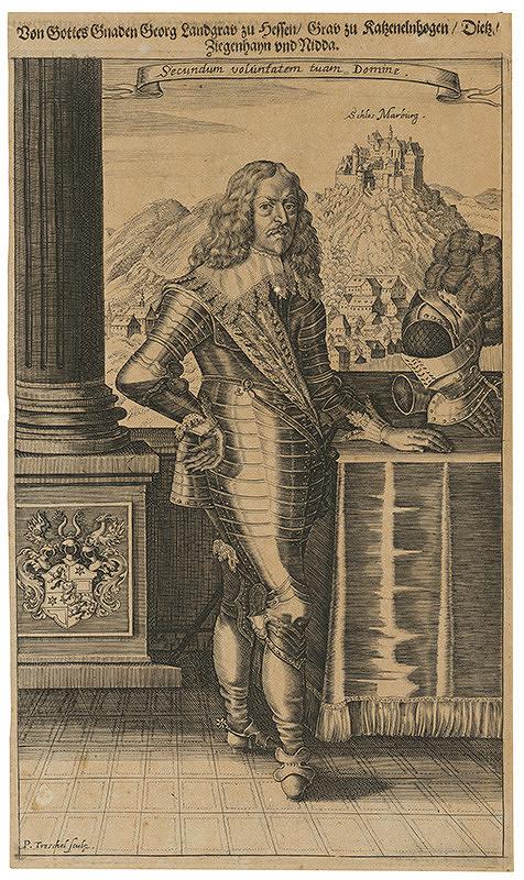 Peter Paul Troschel – Podobizeň hessenského zemského grófa Georga