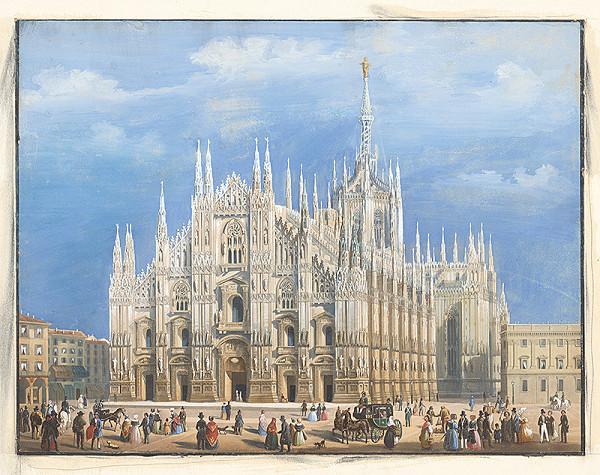 Neurčený grafik z 2. polovice 18. storočia - Dóm v Miláne