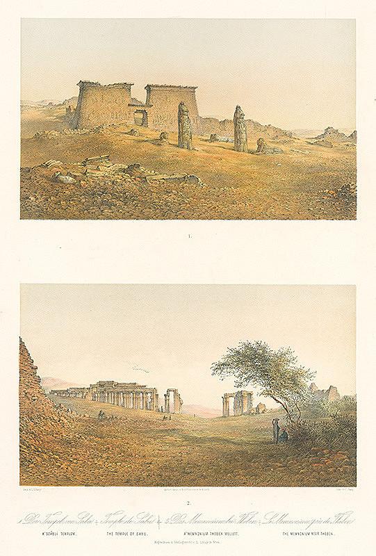 Karol Ľudovít Libay, Rudolf Alt, C. Jung – Chrám v Sabu / Memnonium pri Tébach