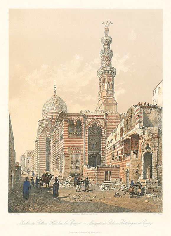 Rudolf Alt, Karol Ľudovít Libay – Mešita sultána Kaitbaiho pri Káhire, 1857