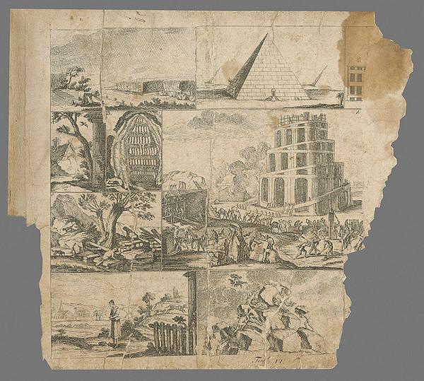 Stredoeurópsky rytec z konca 18. storočia-Chodowiecki G. - Babylónska veža