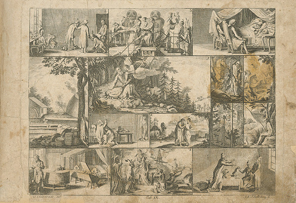 Johann Ulrich Schellenberg, Gottfried Chodowiecki – Abraham obetuje Izáka