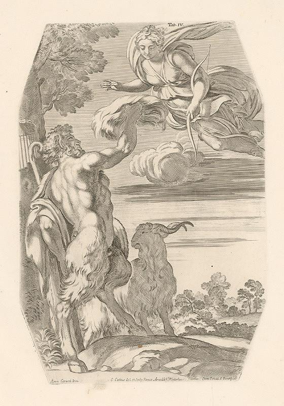 Carlo Cesio, Annibale Carracci – Merkúr prináša Paridovi zlaté jablko ,Tab.III.
