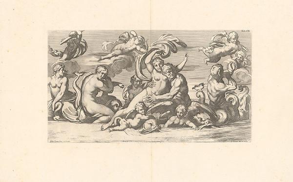 Carlo Cesio, Annibale Carracci - Únos Thetidy k Peleovi,Tab.IX.