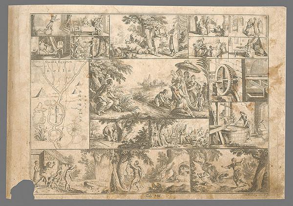 Johann Rudolf Schellenberg – Nájdenie Mojžiša