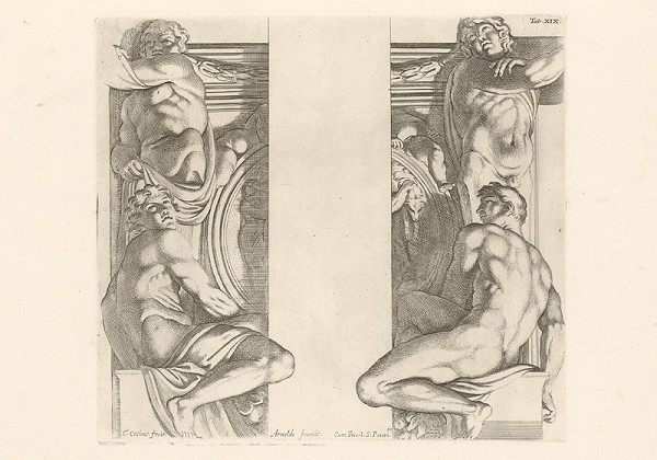 Carlo Cesio, Annibale Carracci - Atlanti,Tab.XIX.